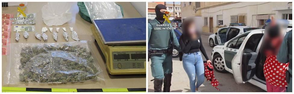 Detenidos los tres individuos que dirigían un activo punto de venta de cocaína y marihuana en San Javier