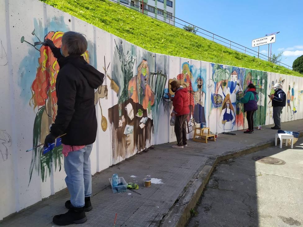 Mural ubicado en San Valentín. FOTO: César Galdo