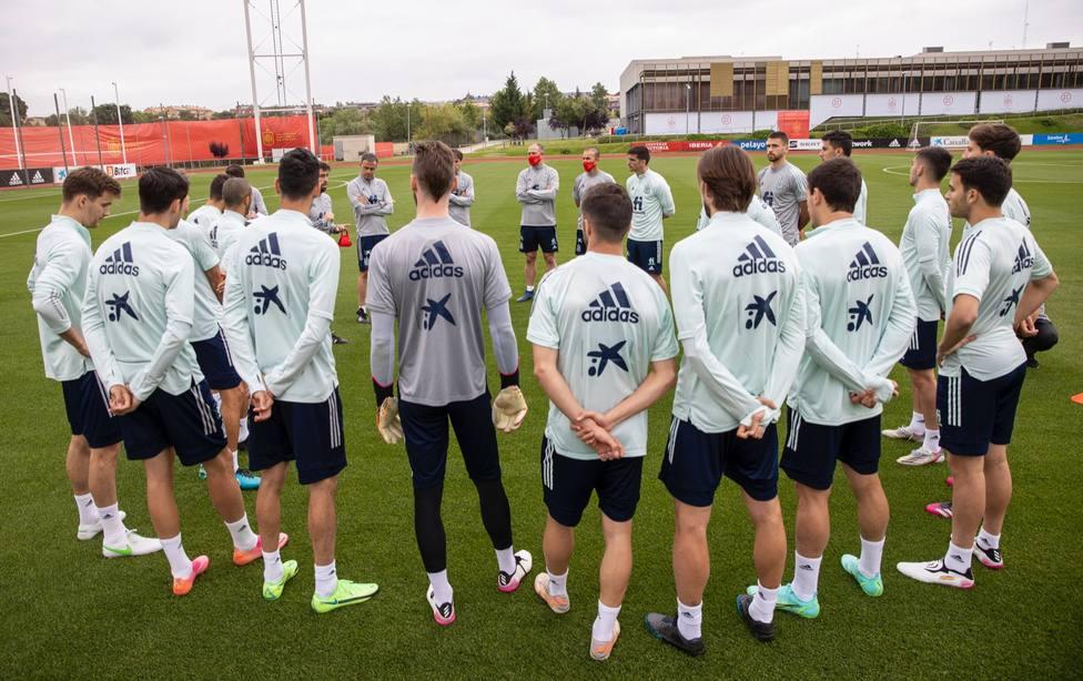 Imagen de un entrenamiento de la Selección Española