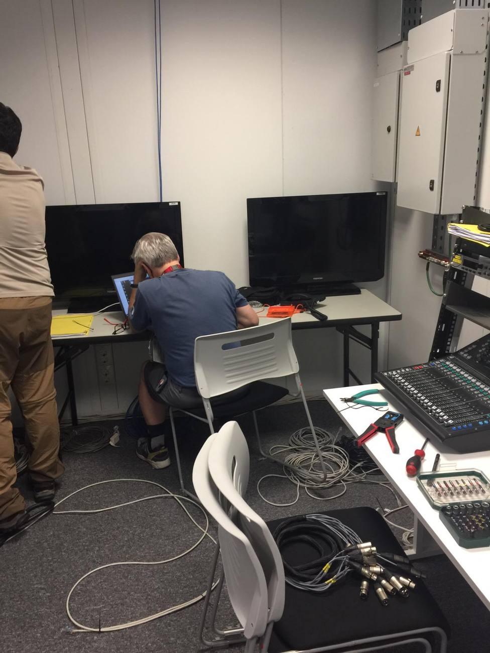 El módulo de la Cadena COPE en Tokio, preparado para las retransmisiones