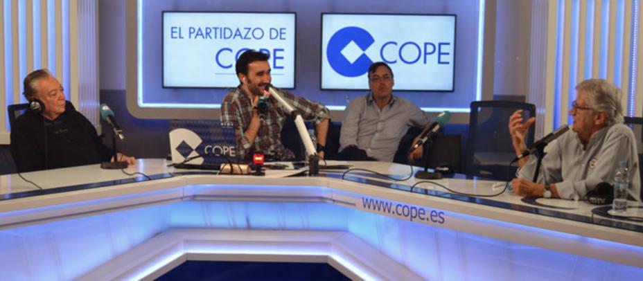 Pepe Domingo Castaño y Héctor del Mar en El Partidazo de COPE