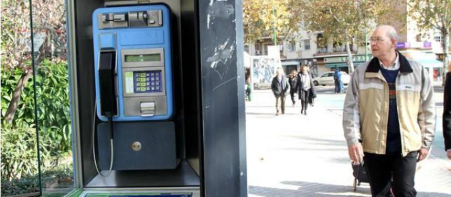 Imagen de una cabina de teléfono. Foto EFE