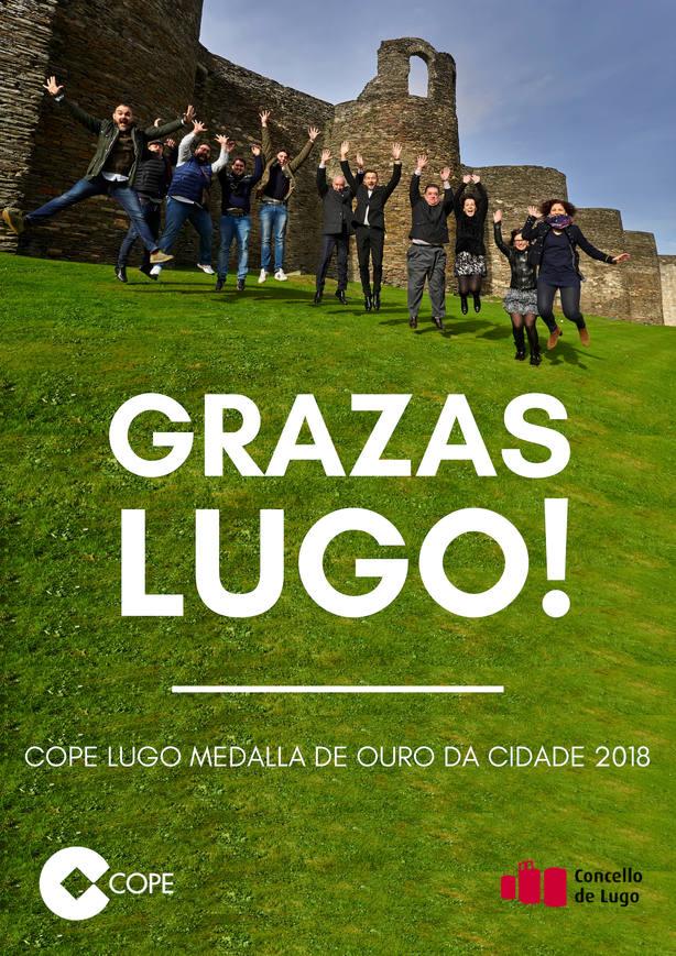 Cope Lugo recibe hoxe a Medallade Ouro da cidade