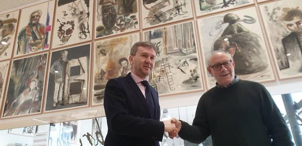 El alcalde de Burgos ha agradecido a Isacio la aportación que hace a toda la ciudad