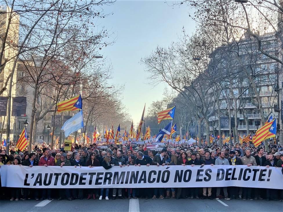 EH Bildu y el BNG participarán en la manifestación contra el juicio del procés independentista del sábado en Madrid