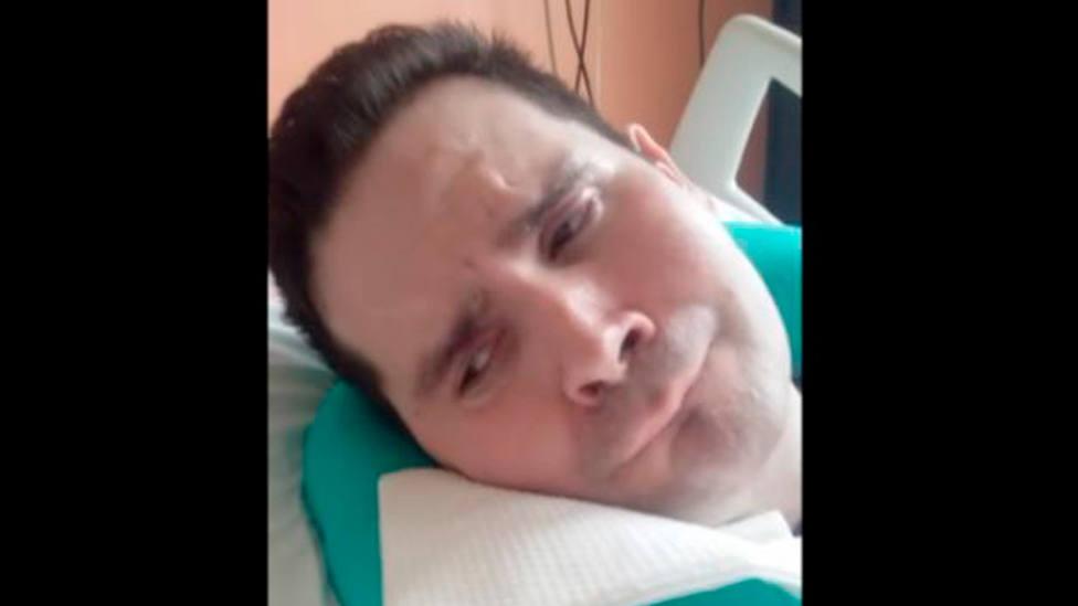 Captura de pantalla del vídeo en el que la madre de Vincent Lambert le dice: ¡No llores!