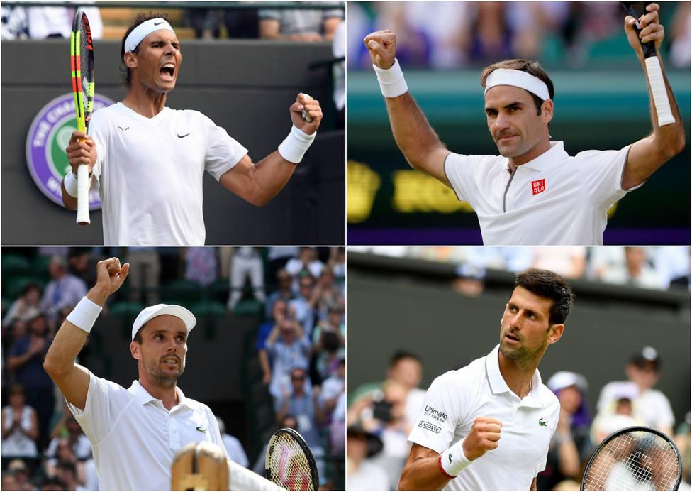 Horario y dónde ver por TV el partido entre Rafa Nadal y Federer y el Bautista - Djokovic en Wimbledon