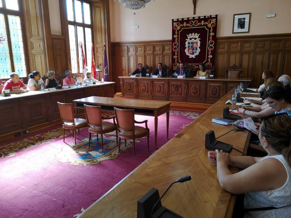 Salón de plenos del ayuntamiento de Palencia