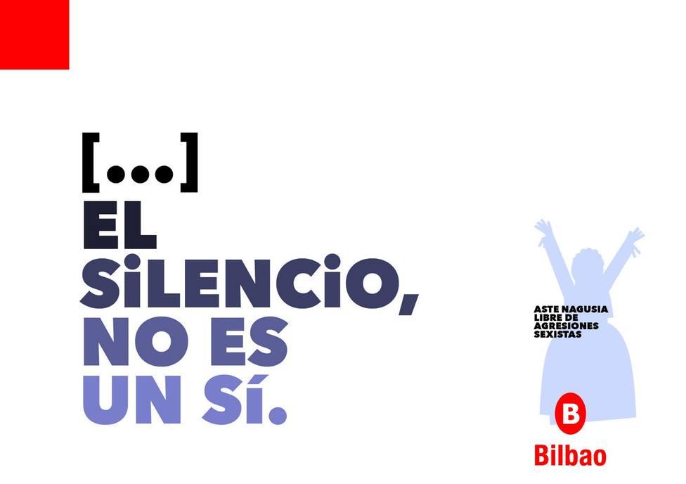 Imagen de la campaña antiagresiones en Bilbao