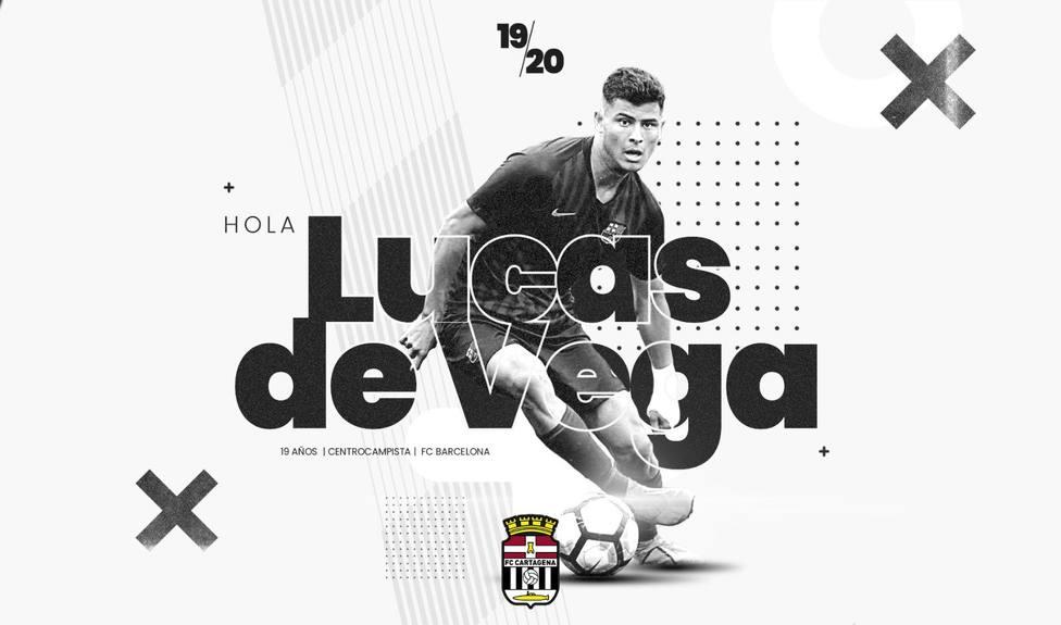 El brasileño Lucas de Vega llega al Cartagena
