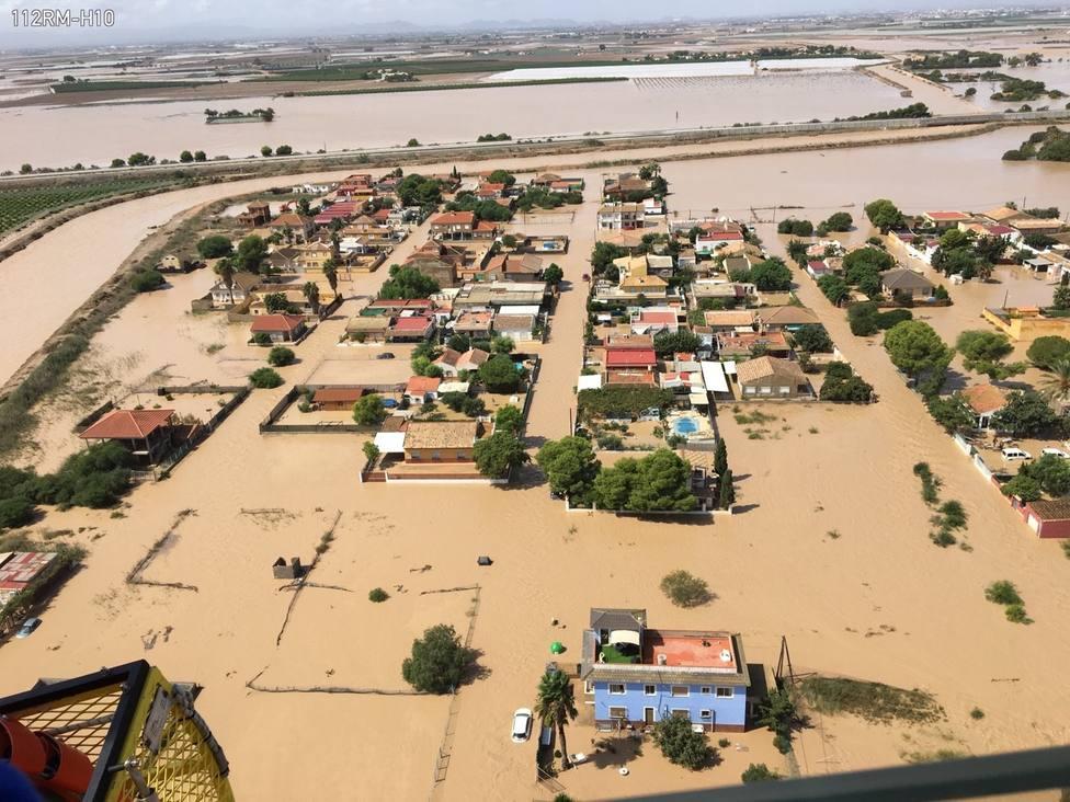 El 112 de Murcia gestiona 3.432 asuntos relacionados con las lluvias