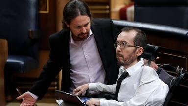 Pablo Iglesias y Echenique en el Congreso de los Diputados