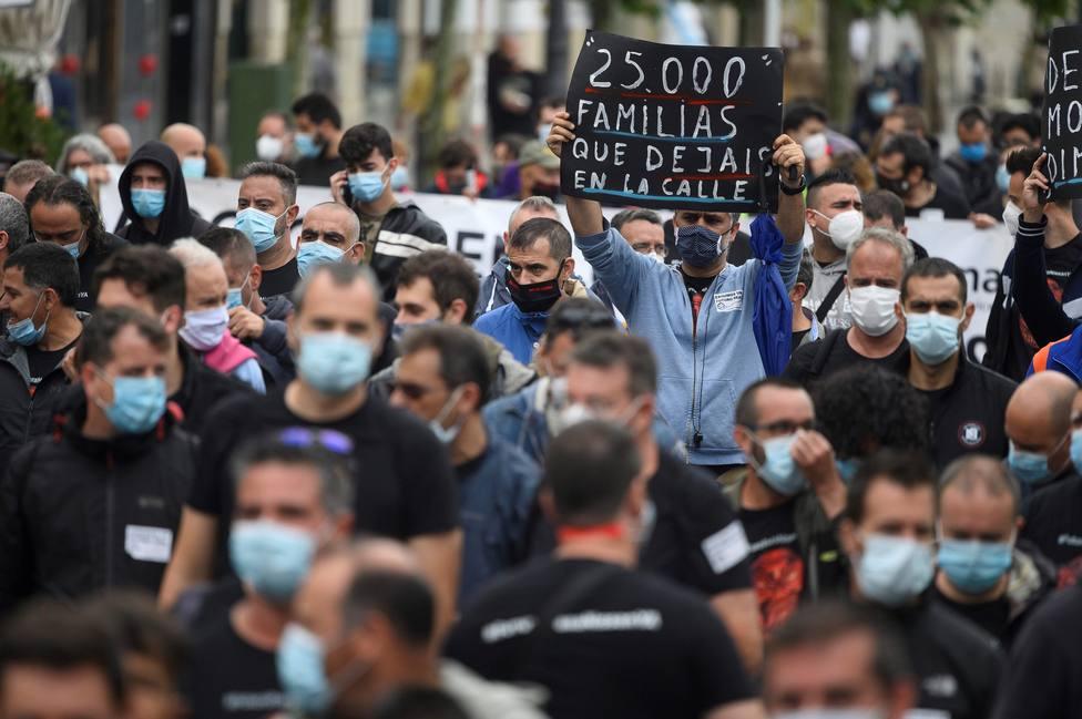 Trabajadores de Nissan se manifiestan en Santander