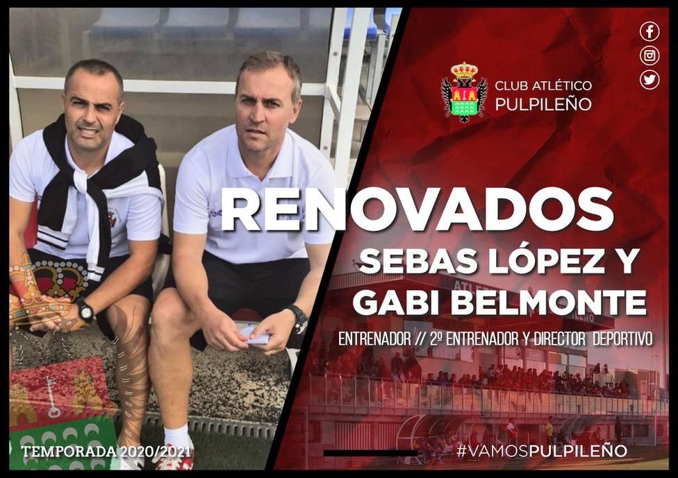 Sebas López y Gabi Belmonte, seguirán capitaneando el barco del Pulpileño
