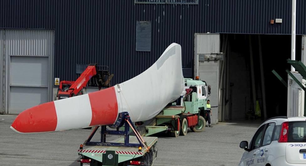 Modelo de pala fabricada en Siemens Gamesa As Somozas