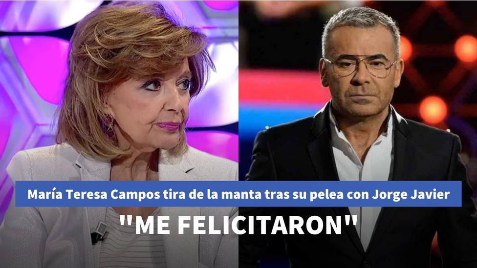 María Teresa Campos tira de la manta y cuenta qué pasó tras su pelea con Jorge Javier: Me felicitaron