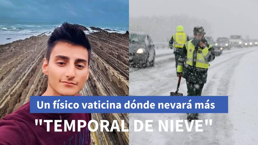 Un físico vaticina con una ilustrativa predicción dónde y cuánta a nieve caerá en las próximas horas en España