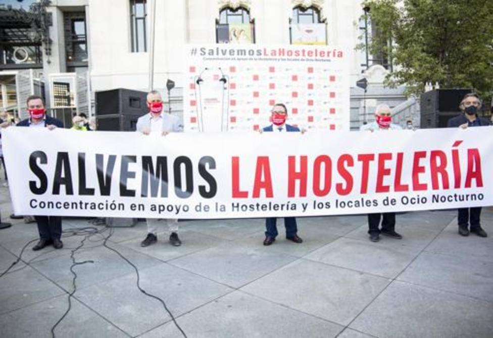 Manifestación de la hostelería y turismo