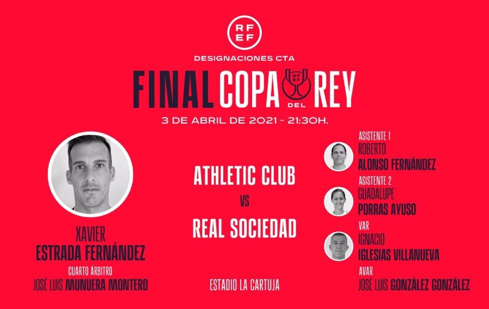 Guadalupe Porras será la asistente de Estrada Fernández en la final de la Copa del Rey