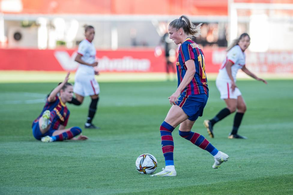 El Barcelona barre al Sevilla y ya está en semifinales de la Copa de la Reina