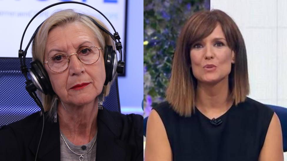 Rosa Díez corta a Mónica López y corrige a la presentadora de TVE en directo: Perdone, perdone...
