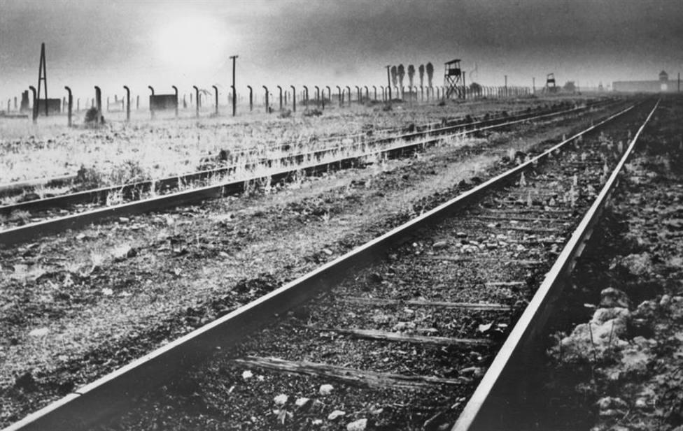 Una imagen del campo de concentración de Auschwitz