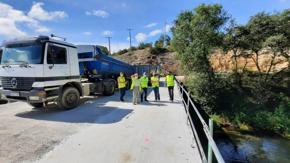 Prueba de carga en la Ponte Valdriz