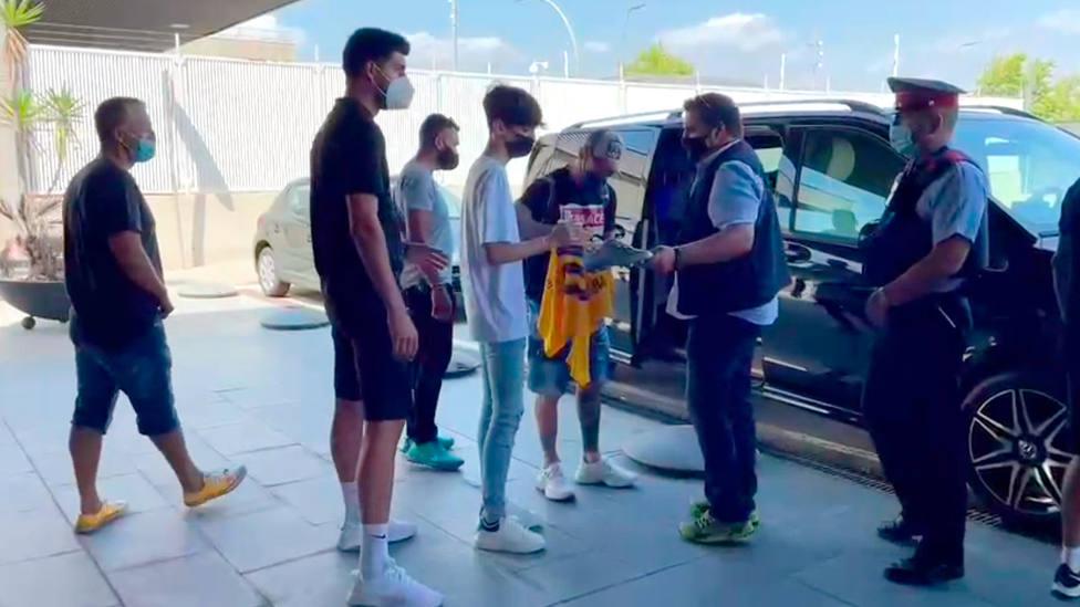Leo Messi aterriza en la terminal corporativa del Aeropuerto de Barcelona - El Prat