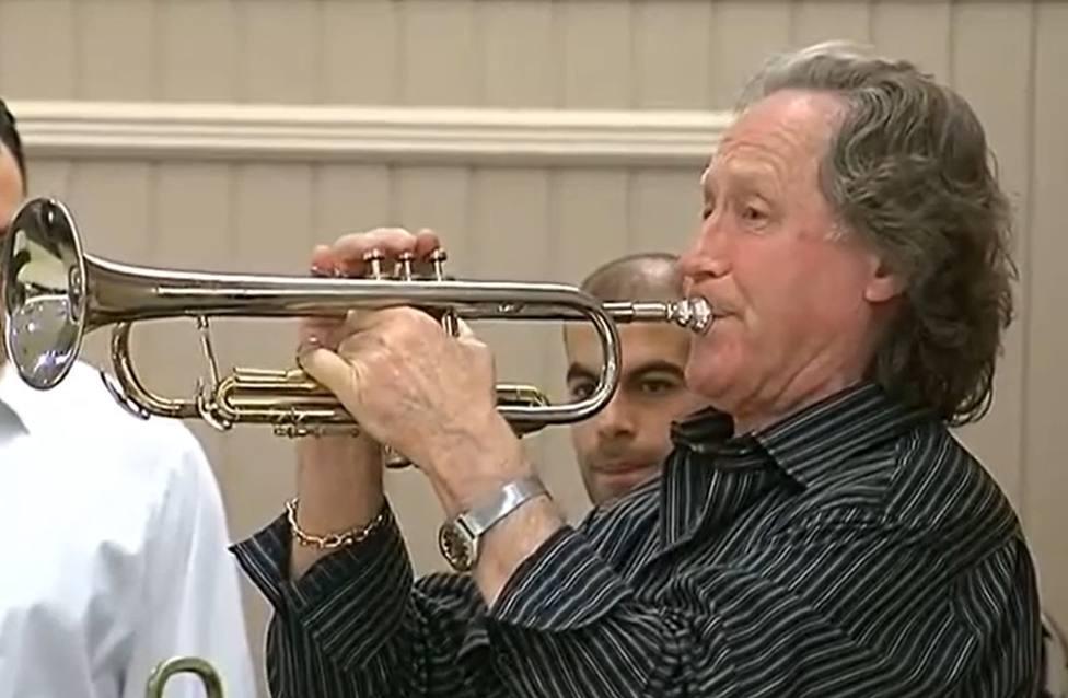 Pedro Cupeiro con su inseparable trompeta