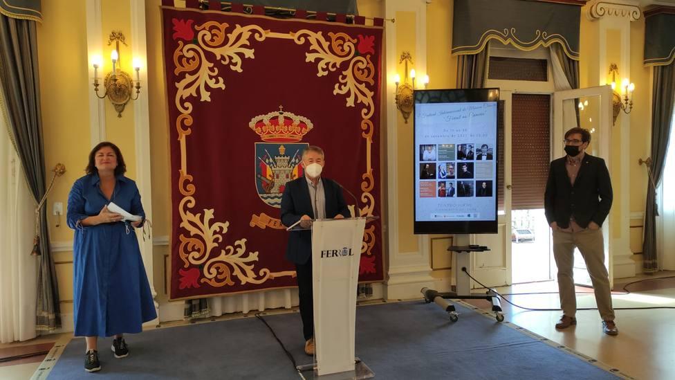 Presentación del I Festival Internacional de Música Clásica Ferrol no Camiño . FOTO: concello de Ferrol