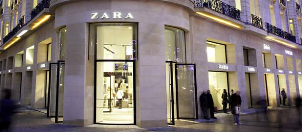 Una tienda de Zara en París. www.inditex.com