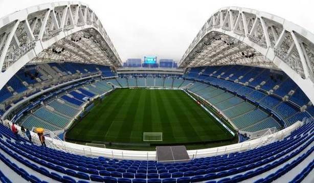 Estadio de Sochi, en Rusia, donde se disputará el Portugal - España