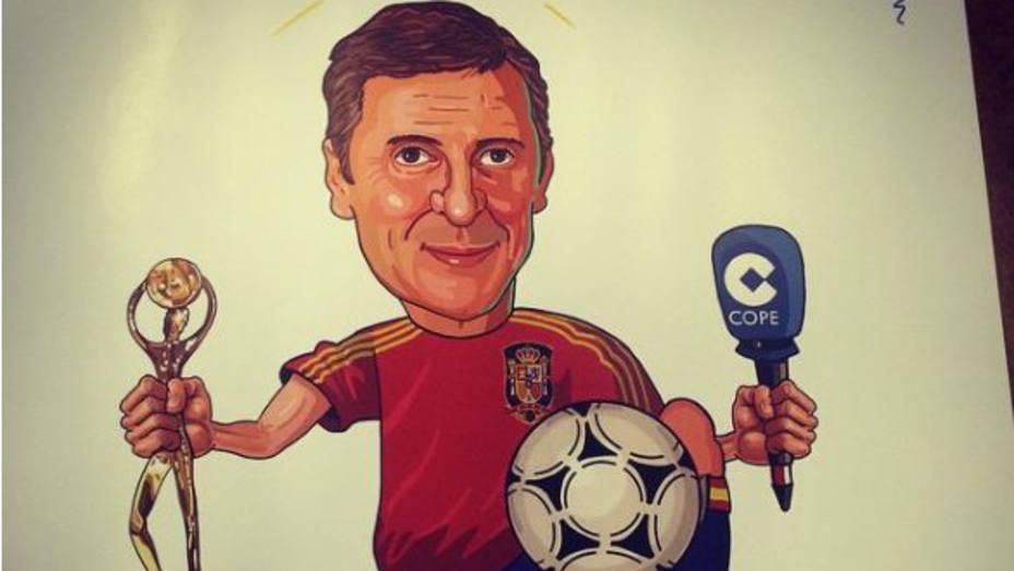 Caricatura de Paco González de un oyente de Tiempo de Juego