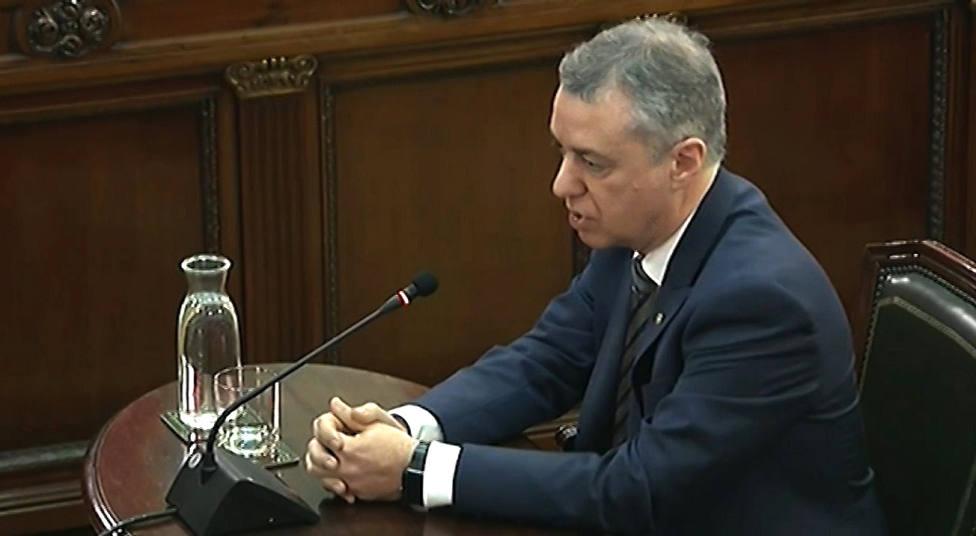 Urkullu insiste en que dijo la verdad en el juicio del procés y respondió a todo lo que le preguntaron las partes