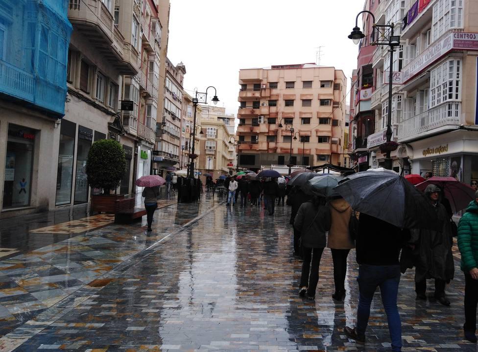 La lluvia provoca pérdidas de un 40% en la hostelería de Cartagena