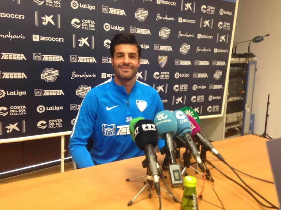 Miguel Torres en la rueda de prensa en el Ciudad de Málaga