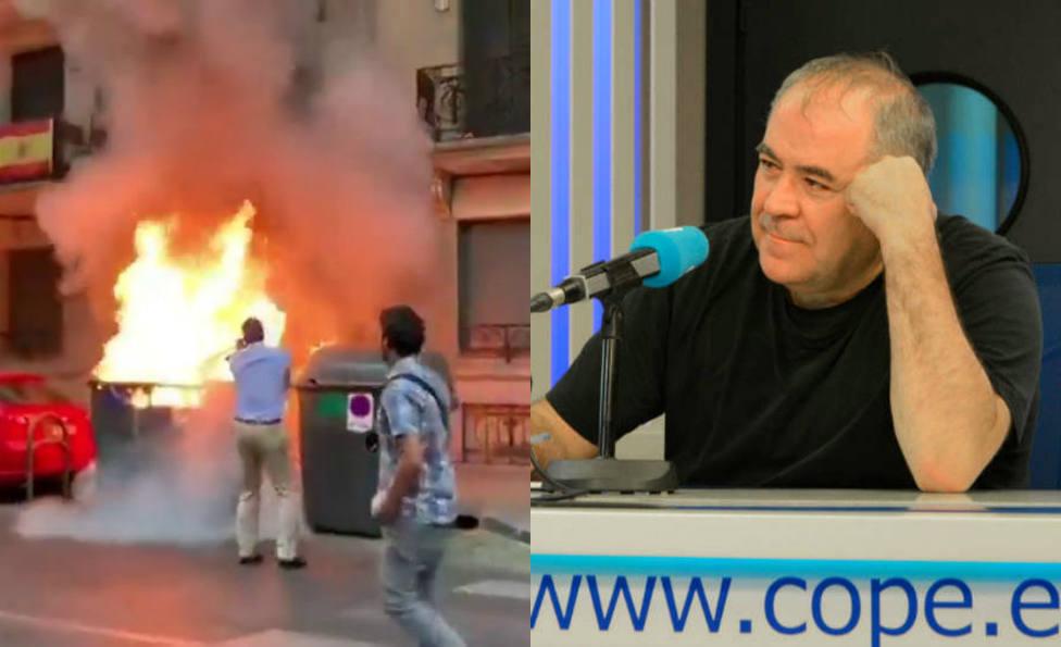 El comentario de Ferreras sobre Herrera y el incendio en la sede de Vox, lo más visto en COPE