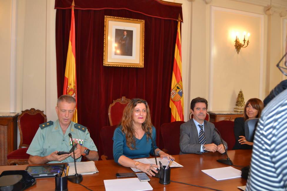 Acto de presentación de los actos de celebración de la Guardia Civil en Huesca