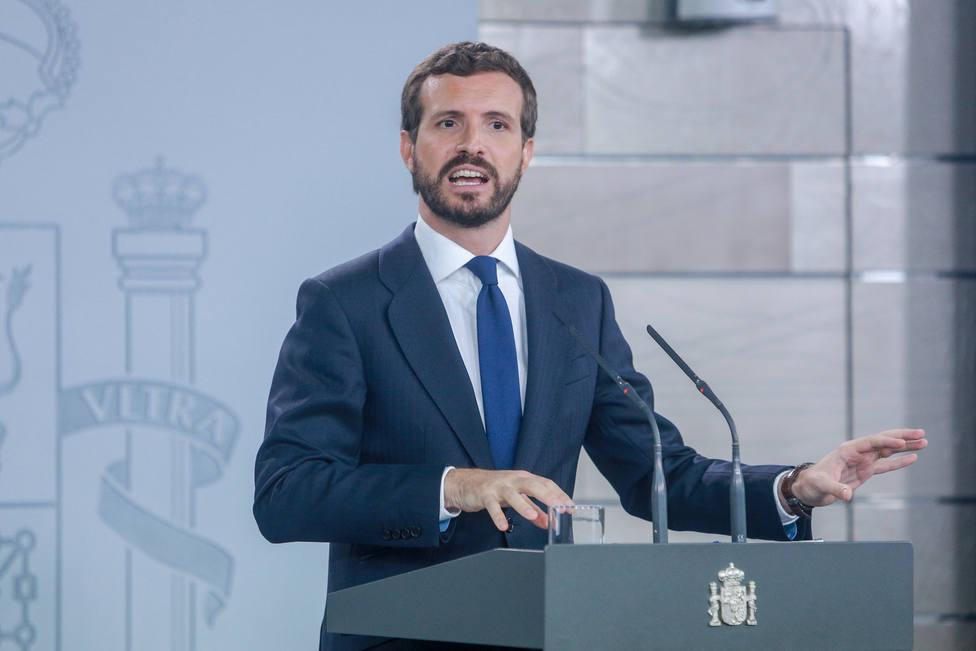 Casado dice que Sánchez no está a la altura ante los disturbios en Cataluña: Unidad sí, pero para hacer algo