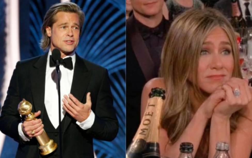 La cara de ternura de Jennifer Aniston mirando a Brad Pitt que ha desatado los rumores de reconciliación