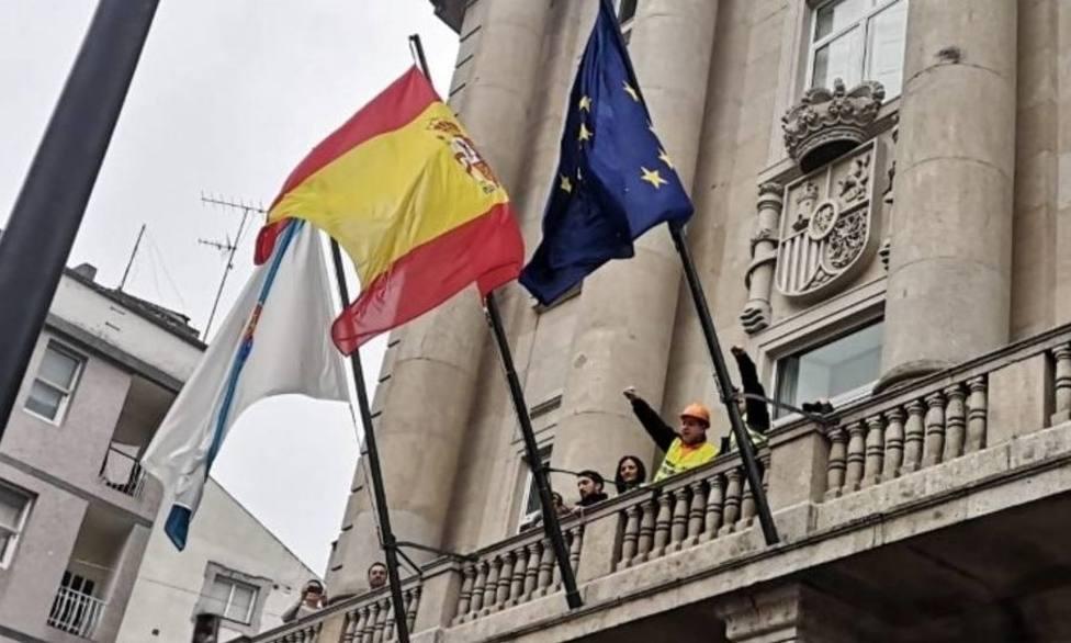 La última manifestación de los trabajadores de Alcoa en Lugo se celebró en la Subdelegación del Gobierno