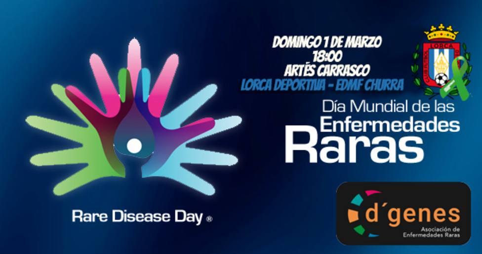 El Lorca Deportiva se une a la celebración del Día Mundial de las Enfermedades Raras con D'genes