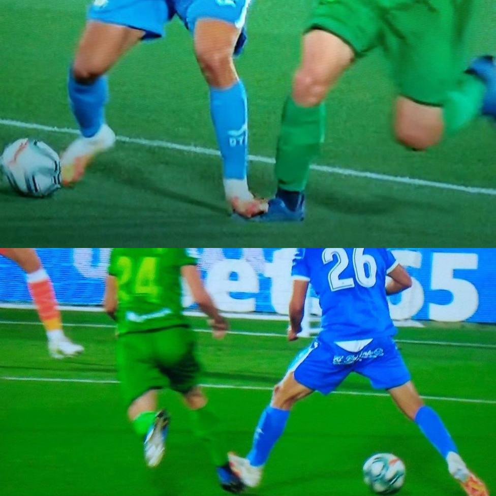 La Real Sociedad, molesta por el penalti que le han pitado en Getafe