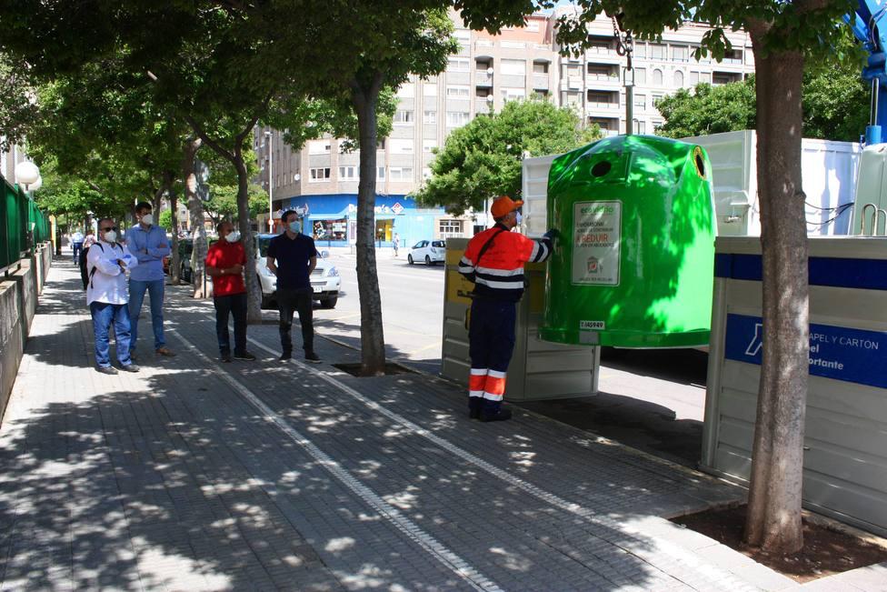 Recogida de residuos urbanos en Castellón de la Plana
