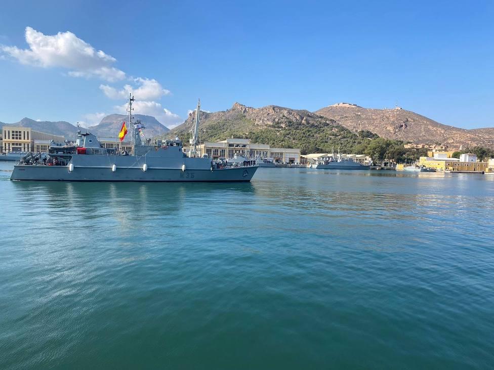 El cazaminas Duero regresa a Cartagena tras participar en la Agrupación Permanente de Medidas Contra Minas de la OTAN