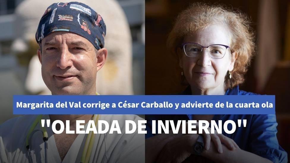Margarita del Val corrige al doctor César Carballo y advierte que España está en la cuarta ola del coronavirus