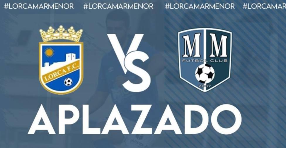 Aplazado el Lorca FC - Mar Menor por COVID19