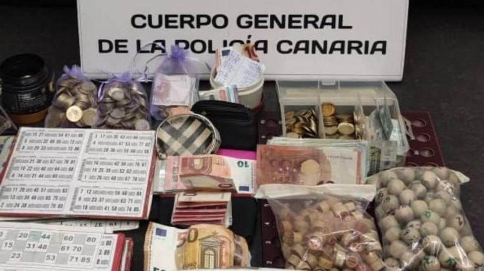 Material incautado por los agentes de la Policiía Canaria