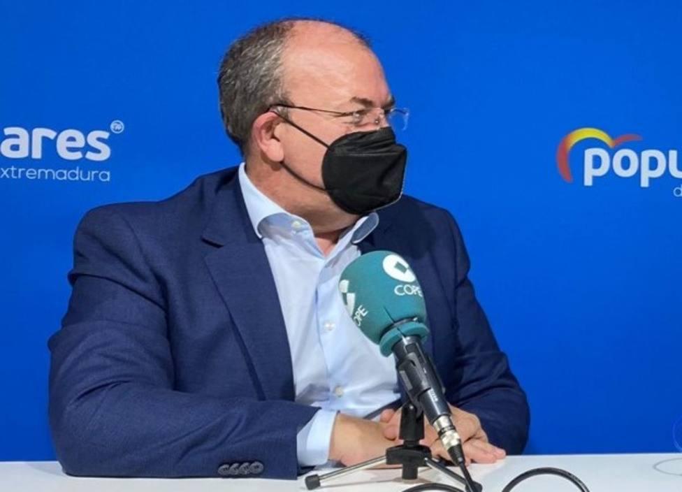El pte del PP de Extremadura, José Antonio Monago, en la cadena COPE