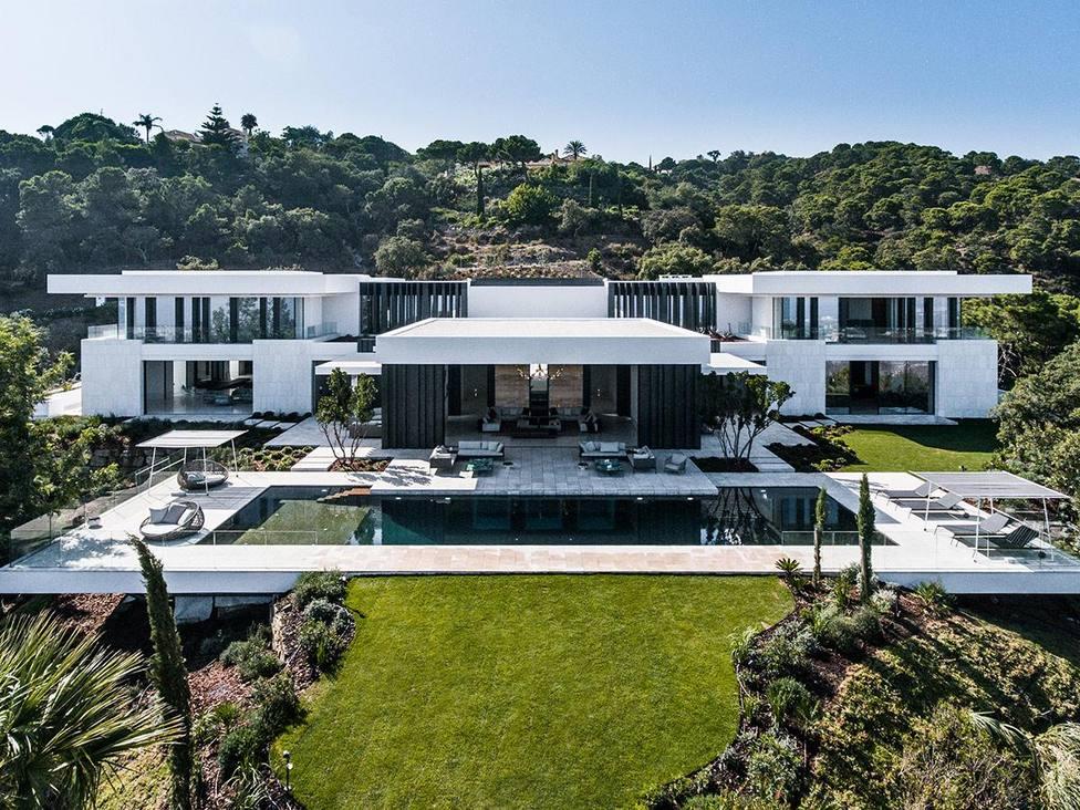 Imagen aérea de la espectacular mansión en La Zagaleta.
